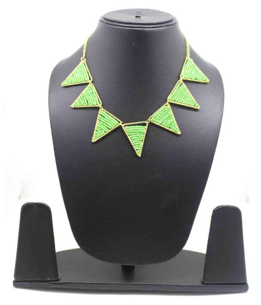 Fedexo Green Beads Necklace