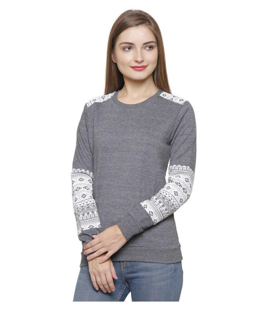 Maggivox Cotton Grey Non Hooded Sweatshirt