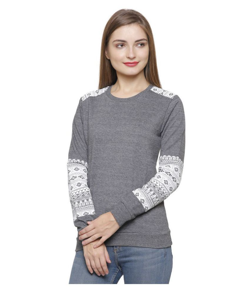 Maggivox Cotton Grey Non Hooded Sweatshirt