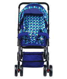 Mee Mee Comfortable Pram with 3 seating position (Blue)