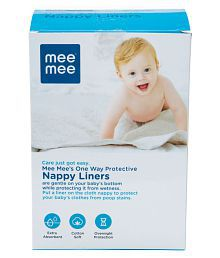Mee Mee One Way Protective Nappy Liners (100 Liners)