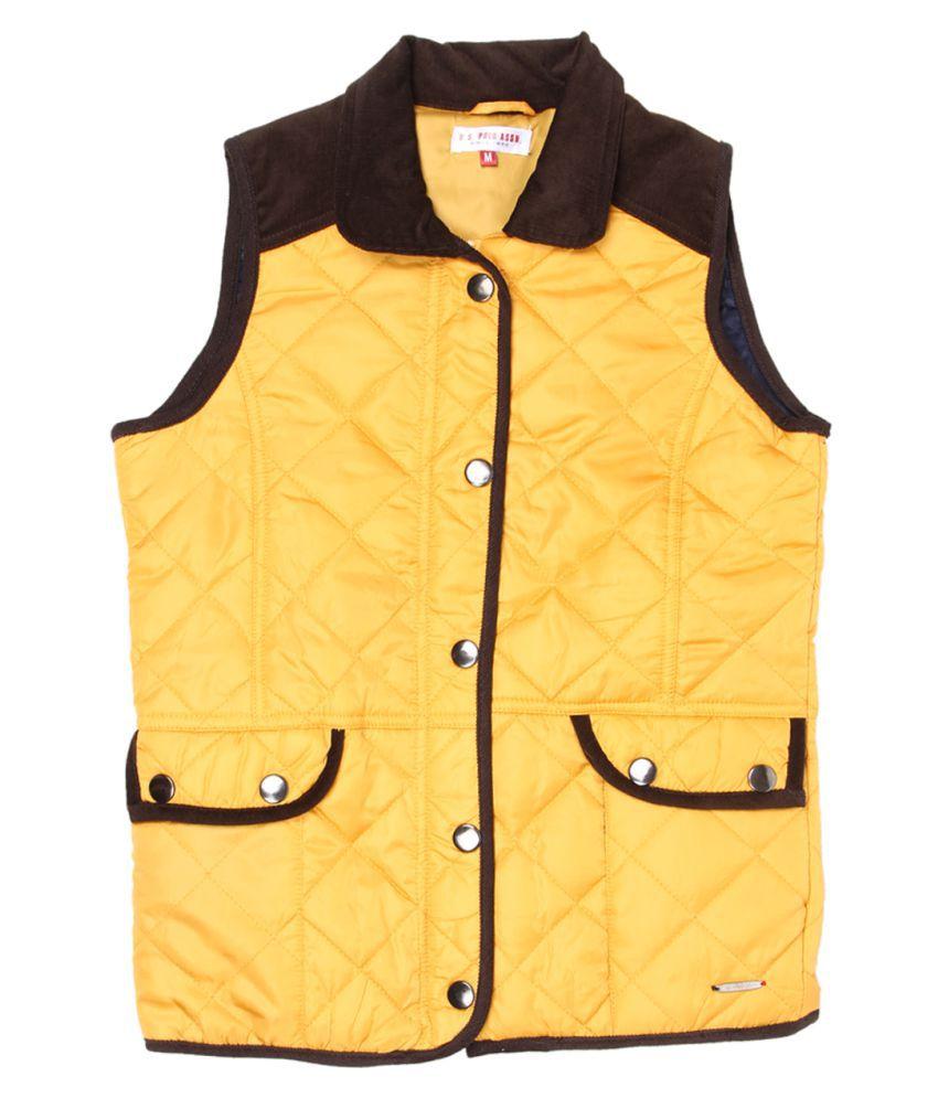 US Polo Girls Orange Casual Jacket