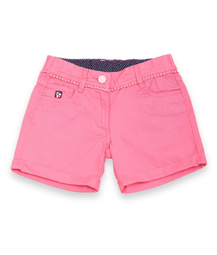 US Polo Girls Pink Casual Short