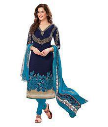 Risera Blue Synthetic Dress Material