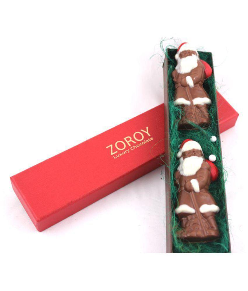 Zoroy Luxury Chocolate Chocolate Box with 2 Santa Assorted Box Christmas and new year gift 80 gm
