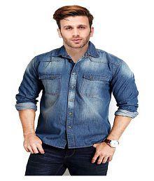 Hangup Blue Casual Slim Fit Shirt