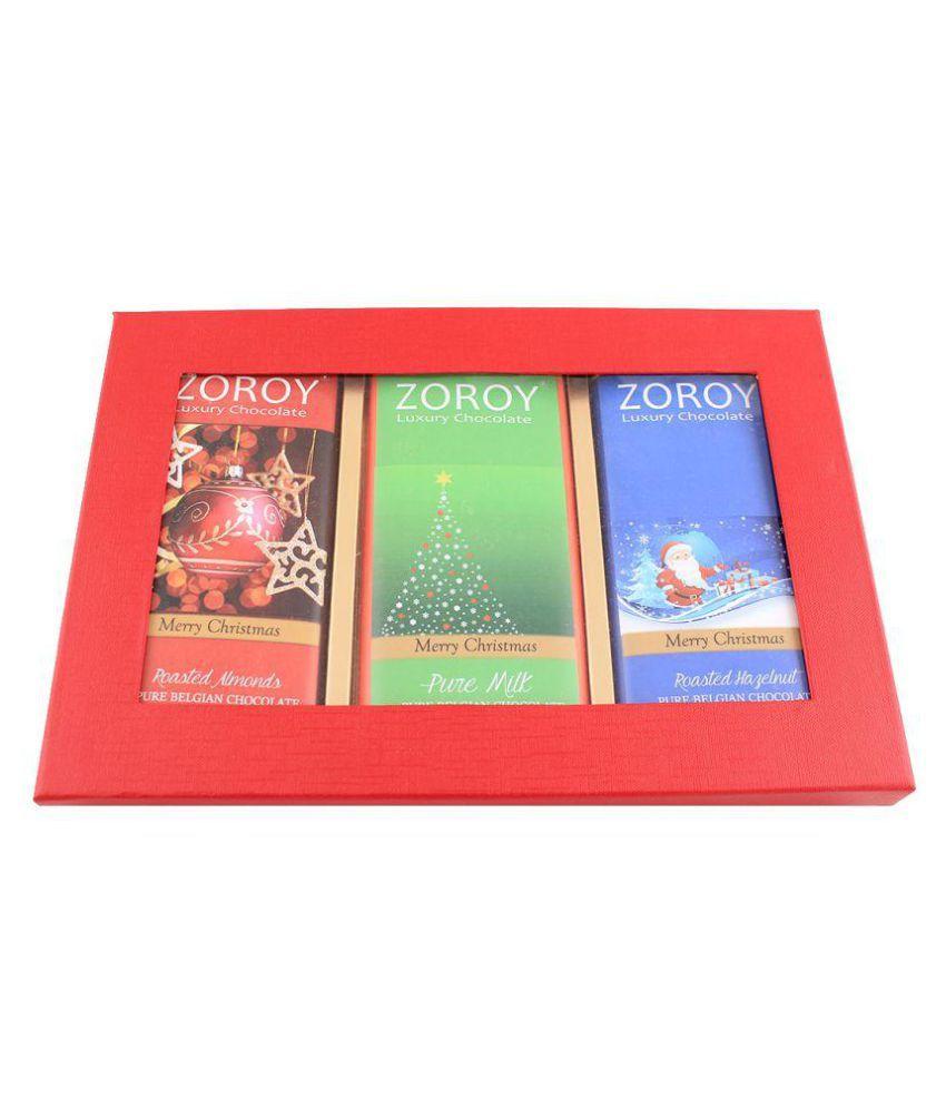 Zoroy Luxury Chocolate Belgian Bars Assorted Box Christmas and new year gift 300 gm