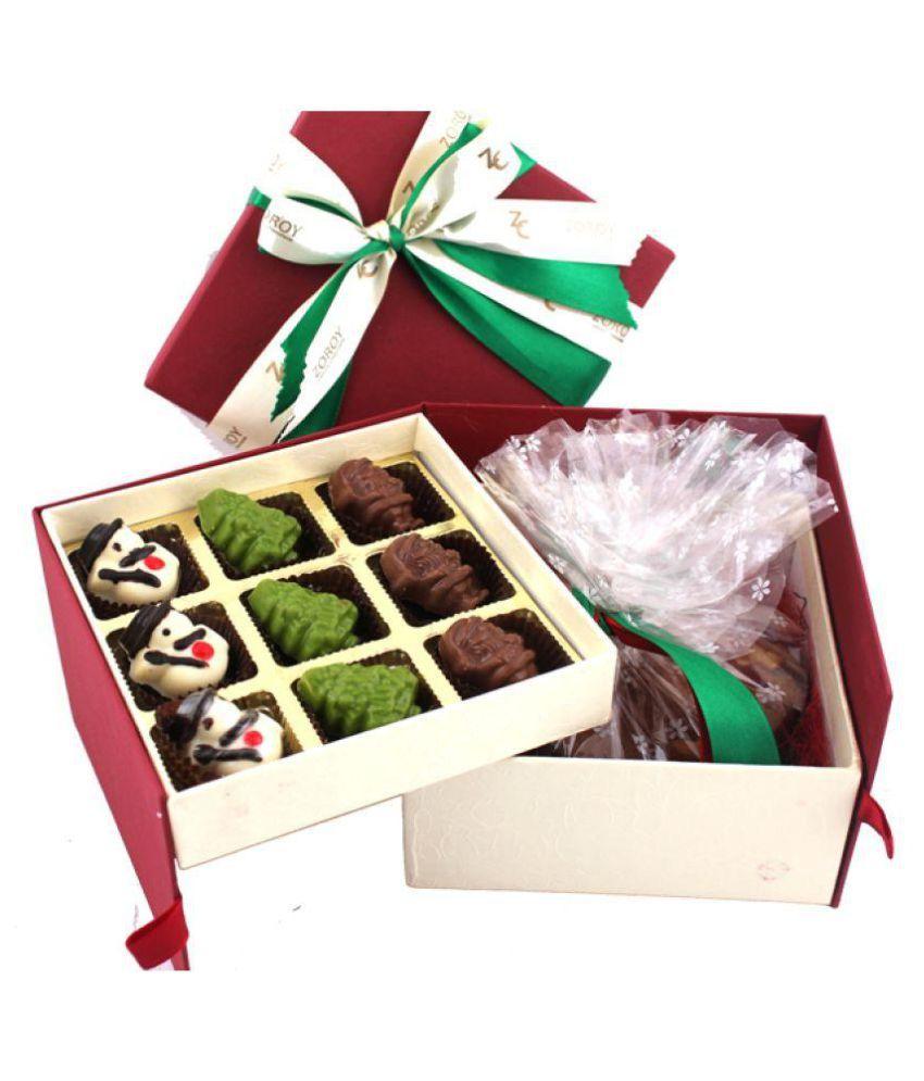 Zoroy Luxury Chocolate Double decker box plum cake Assorted Box Christmas and new year gift 350 gm