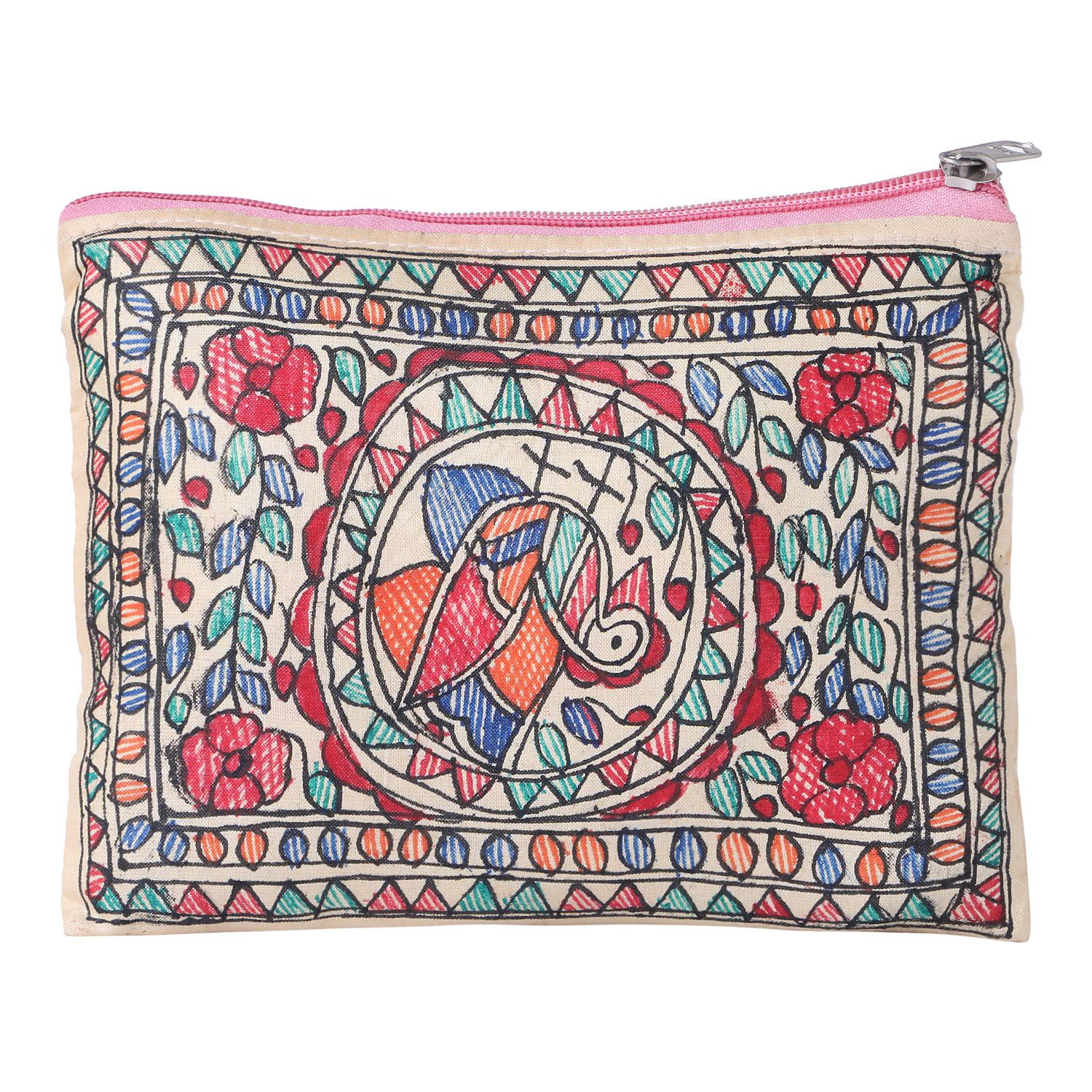 imithila Fabric Beige Pouch