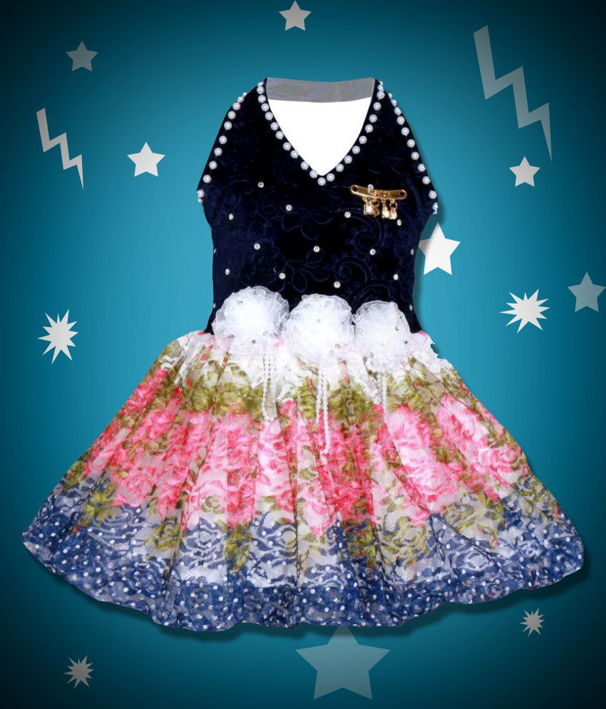 Cute Fashion Kids Girls Baby Princess Velver and Net Party Wear ...