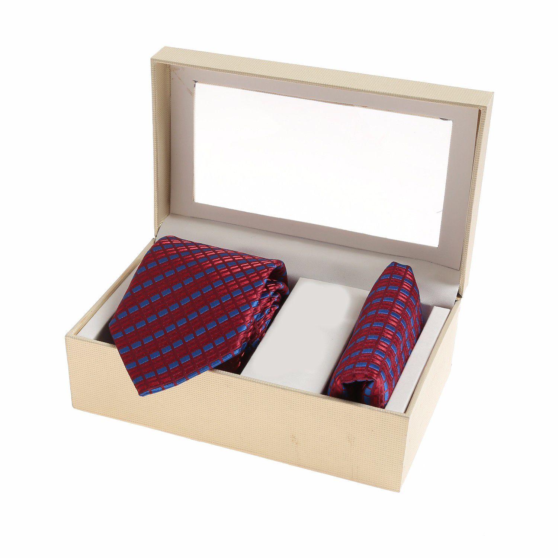 Sir Michele Maroon Checks Silk Necktie