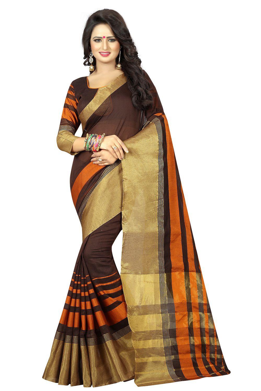 Dream Star Brown Silk Saree