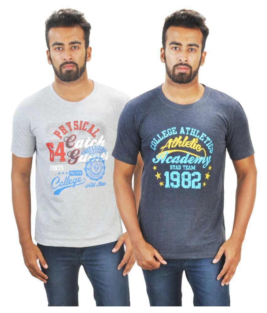 BW Multi Round T-Shirt Pack of 2