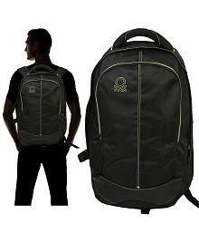 United Colors of Benetton black Backpack