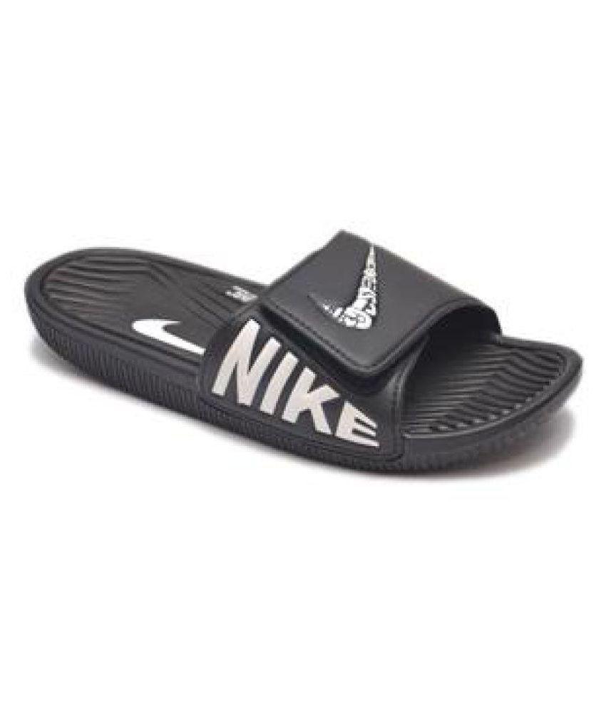 72b19293b Nike MEN S NEW SLIPPERS (113401) Black Slide Flip flop Price in India- Buy  Nike MEN S NEW SLIPPERS (113401) Black Slide Flip flop Online at Snapdeal