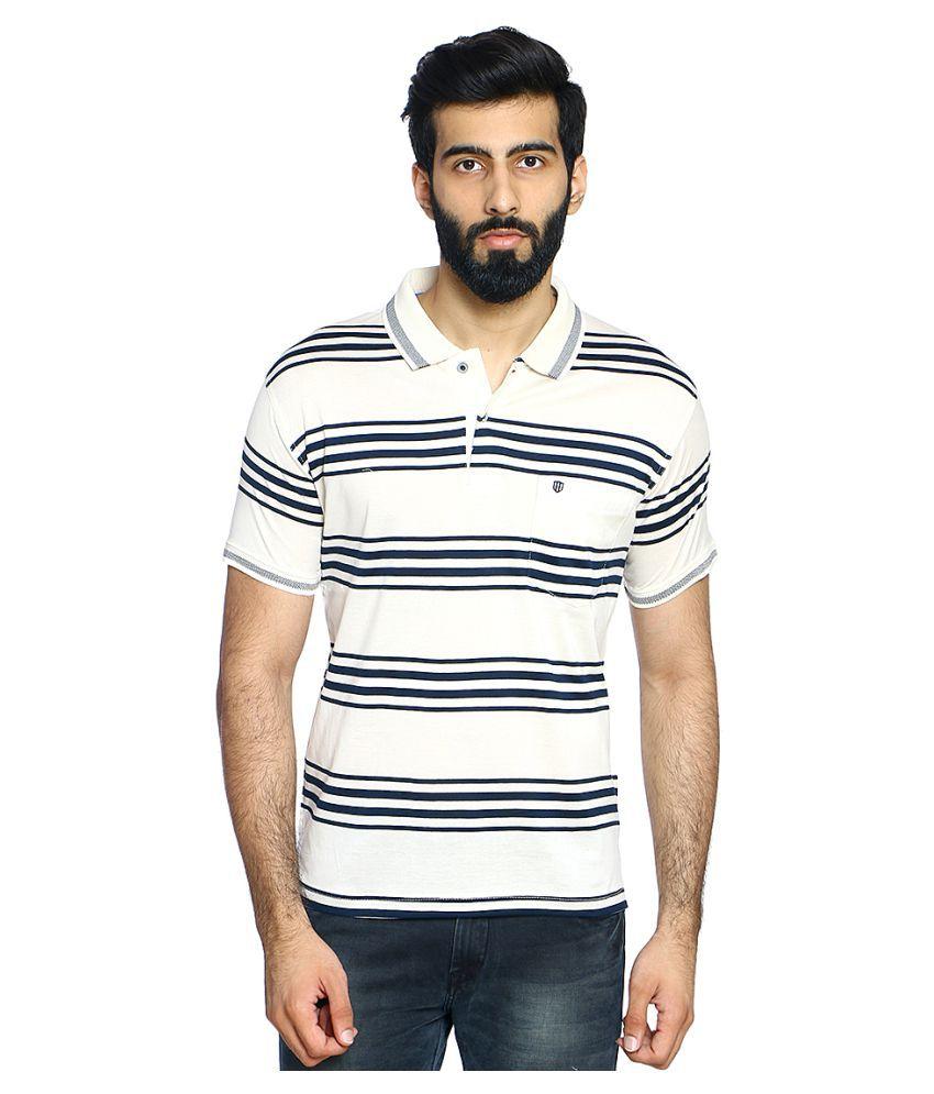Duke Off-White V-Neck T-Shirt Pack of 1