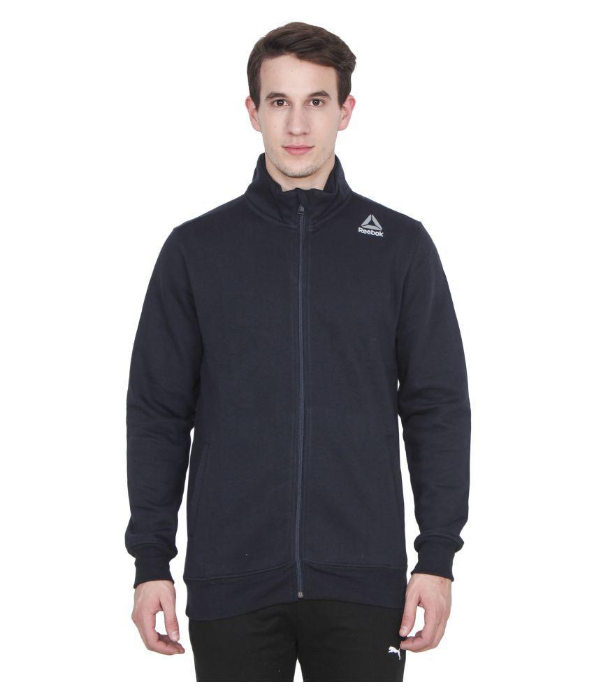 Reebok Navy Cotton Polyester Fleece Sweatshirt Buy