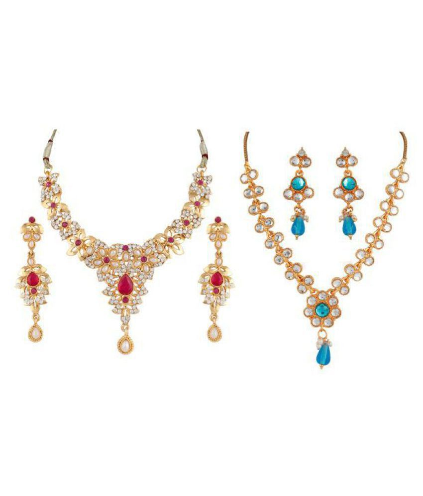 Variation Multicolour Necklace Set Combo - Pack of 2