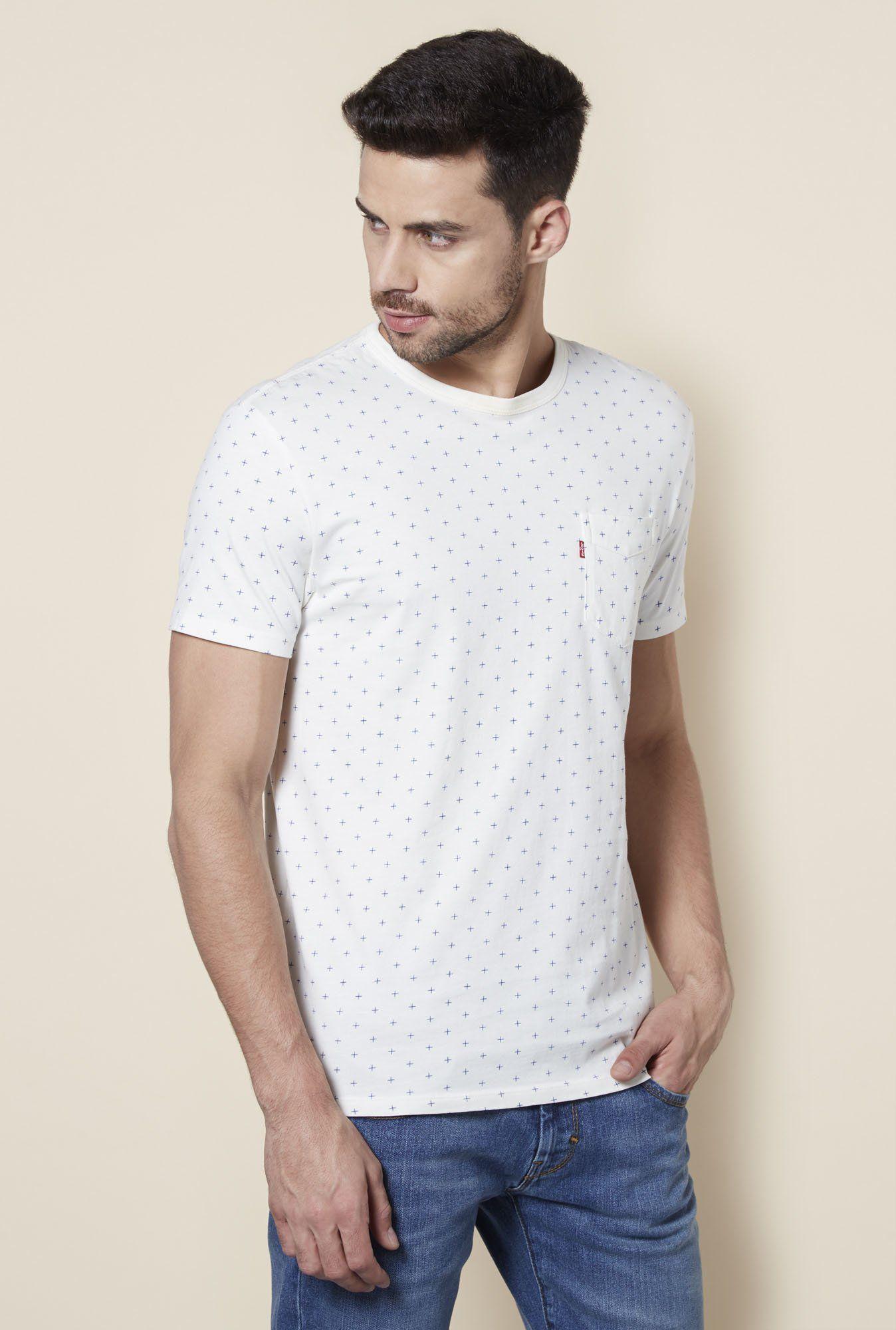 Levi's White Round T-Shirt