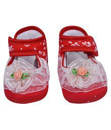 Guru kripa Baby Products Baby Shoes / Booties For Infants Light Weight Soft Sole For Baby Boys/ Girls/ Kids/ Children/ Made Of Soft Cotton Fabric Material For | Age Group 0-9 Months
