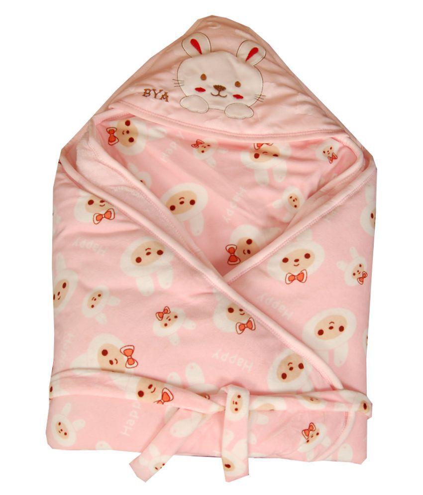 GURU KRIPA BABY PRODUCTS Pink Fleece Sleeping Bags ( 78 cm × 78 cm)