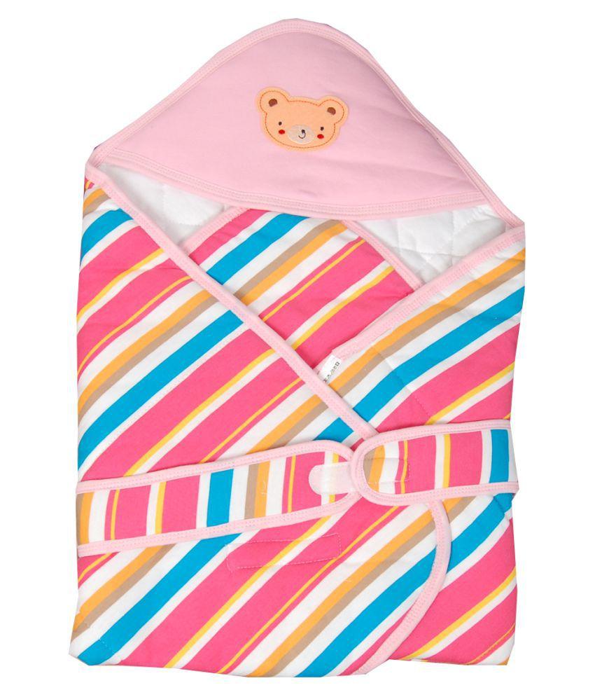 GURU KRIPA BABY PRODUCTS Pink Fleece Sleeping Bags ( 75 cm × 75 cm)