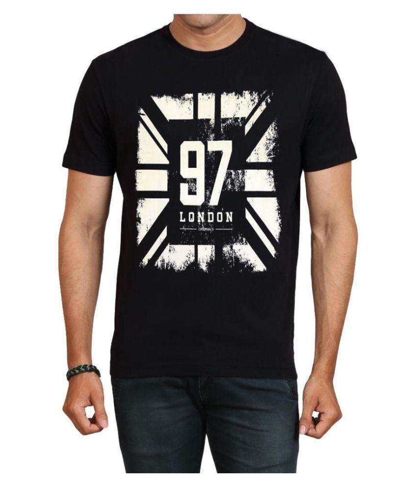 IND TWIST Black Round T-Shirt