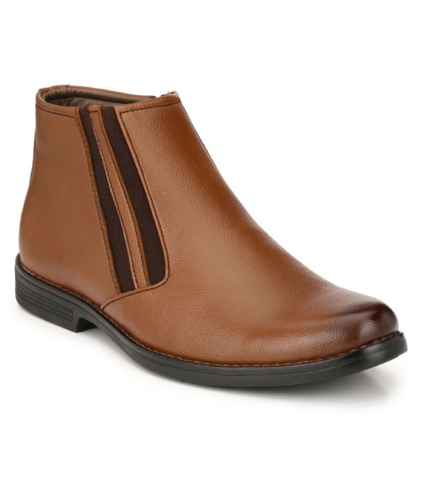 LEEPORT Tan Casual Boot