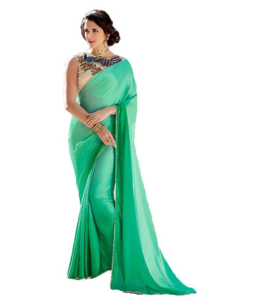 Mafiya  Fashion Green Bangalore Silk Saree
