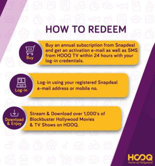 HOOQ - 1,000's of Hollywood Movies & TV Shows for 1 year