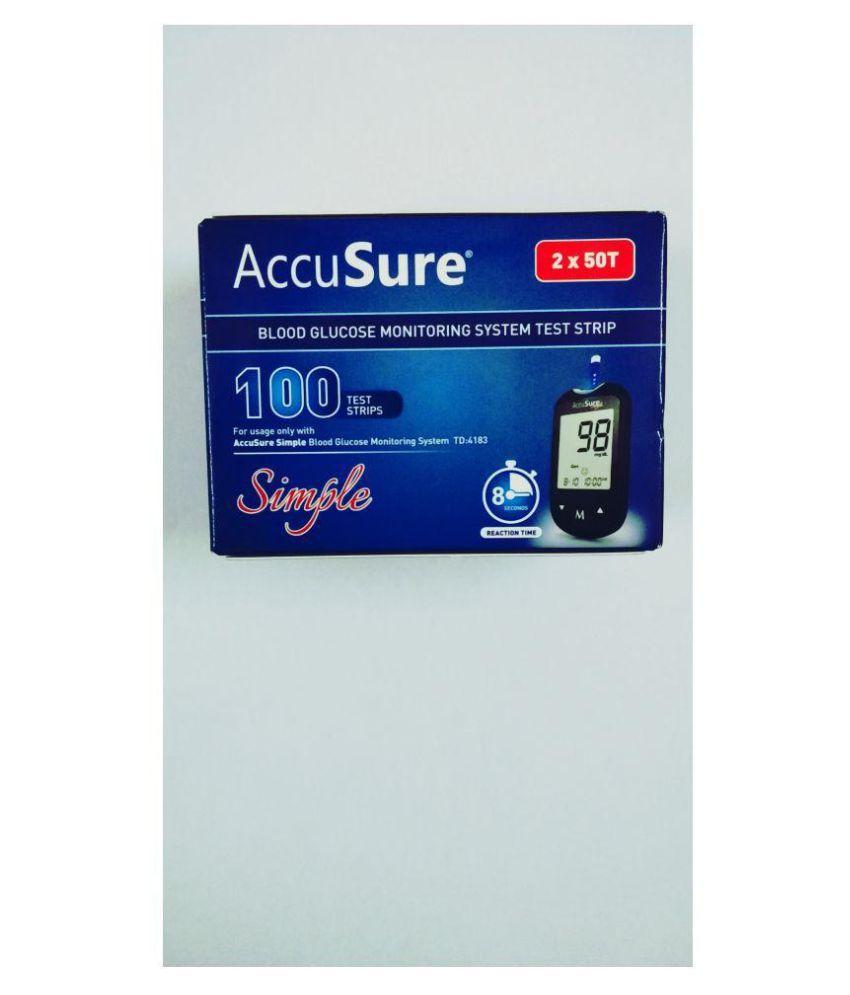 Accu Sure Glucose Strips Simple 2 50 Td 4183 07 2019 Buy Online At  -> Aki Carpetes