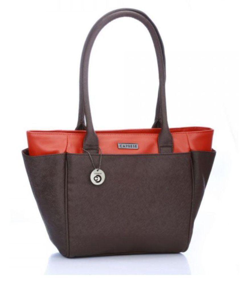 Caprese Rust Faux Leather Shoulder Bag
