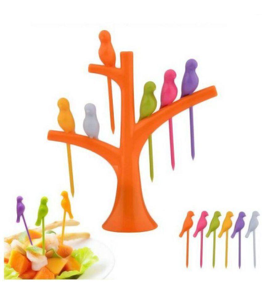 NARA 6 Pcs Plastic Fruit Fork