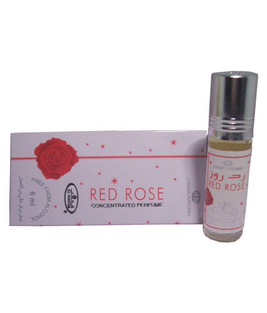 Al-Rehab Red-Rose Attar 6 ml alcohol free long lasting perfume oil with ...