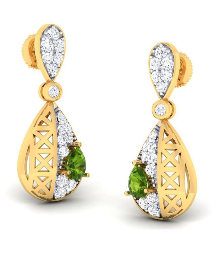 a68450a4d GO4CARAT 14k Yellow Gold Cubic zirconia Studs: Buy GO4CARAT 14k Yellow Gold  Cubic zirconia Studs Online in India on Snapdeal