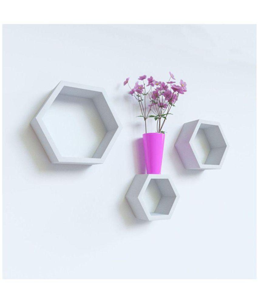 Sunshine Floating Shelf/ Wall Shelf / Storage Shelf/ Decoration Shelf White - Pack of 1