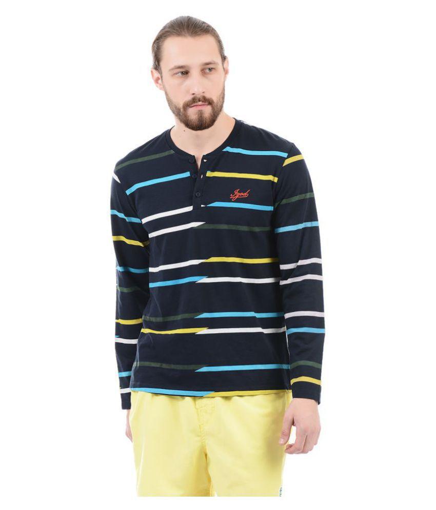 IZOD Black Henley T-Shirt Pack of 1