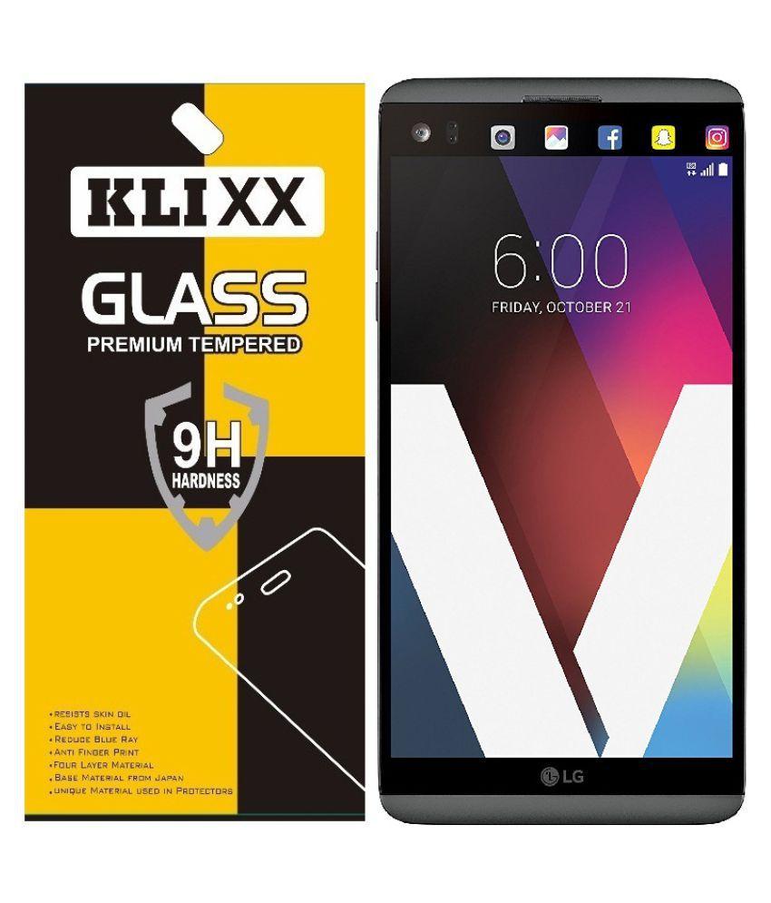 Lg V20 Tempered Glass Screen Guard By Klixx