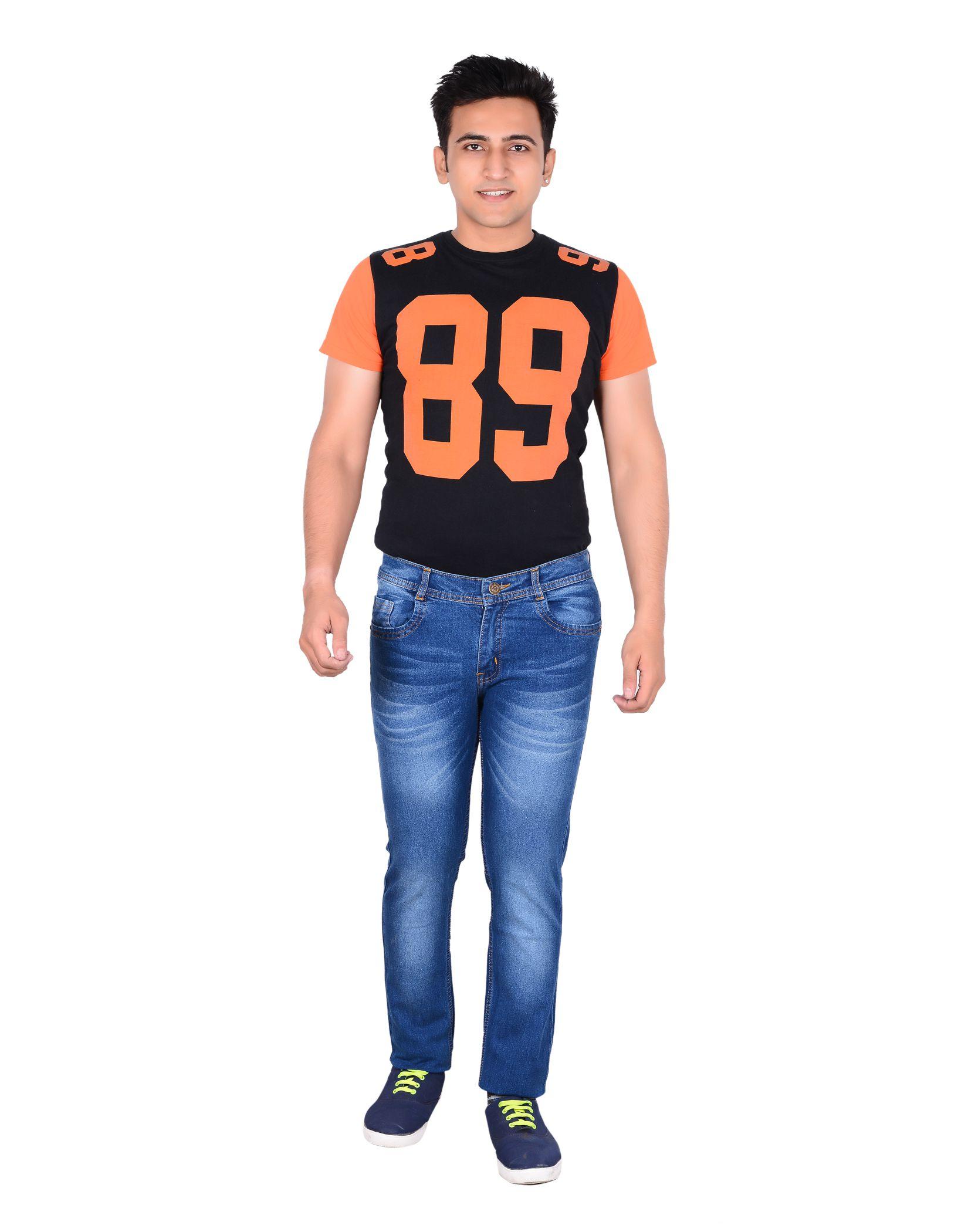 LEETOS Light Blue Regular Fit Jeans