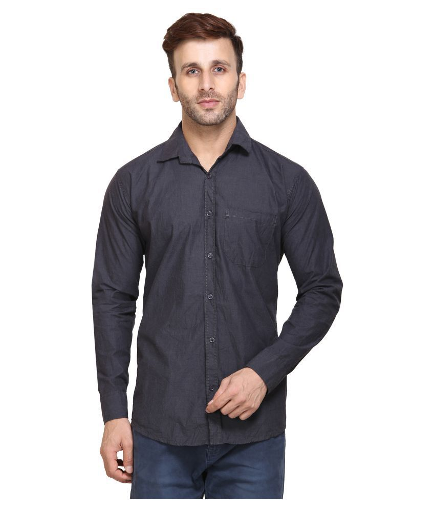 Maggivox Grey Regular Fit Shirt