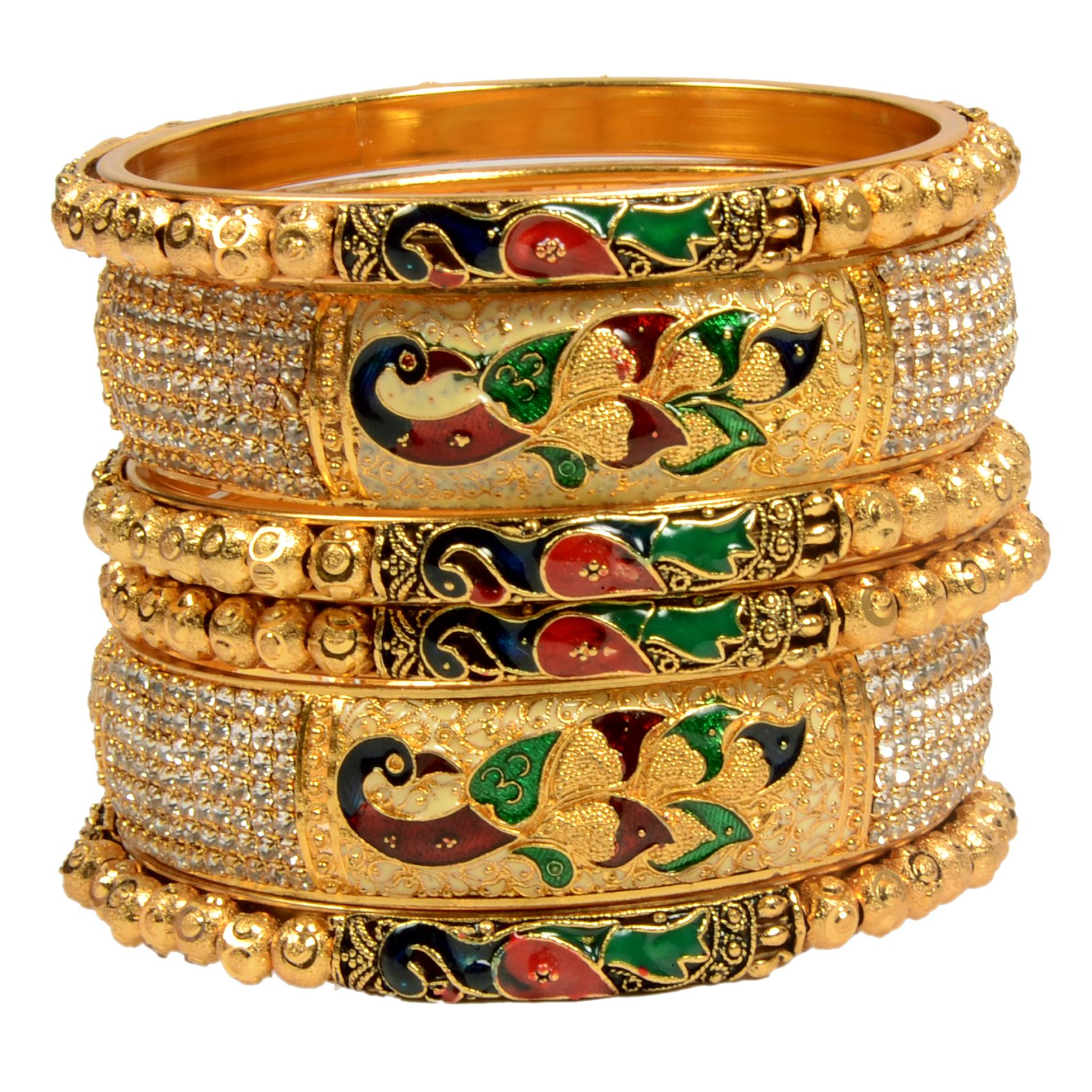 Mansiyaorange Original Look One Gram Gold Bangles For Women
