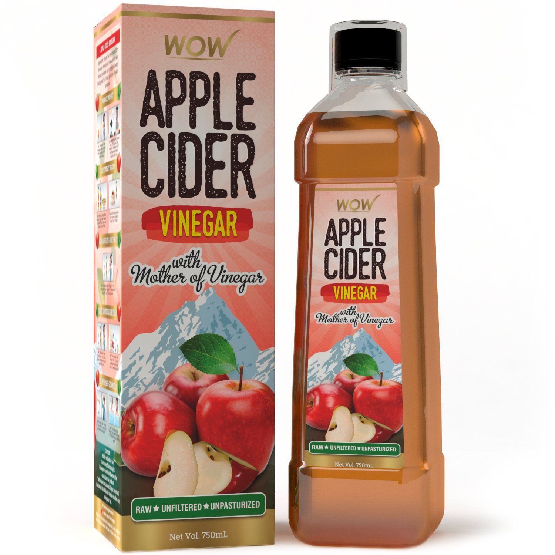 wow apple cider vinegar 750 ml pack of 1 buy wow apple cider rh snapdeal com