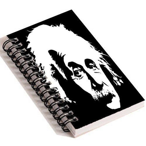 Albert Einstein - Spiral Diary (Paperback)139 sheets 70 GSM Matte Art Paper Amazing to giftfor all occasionsby Unique Indian Crafts