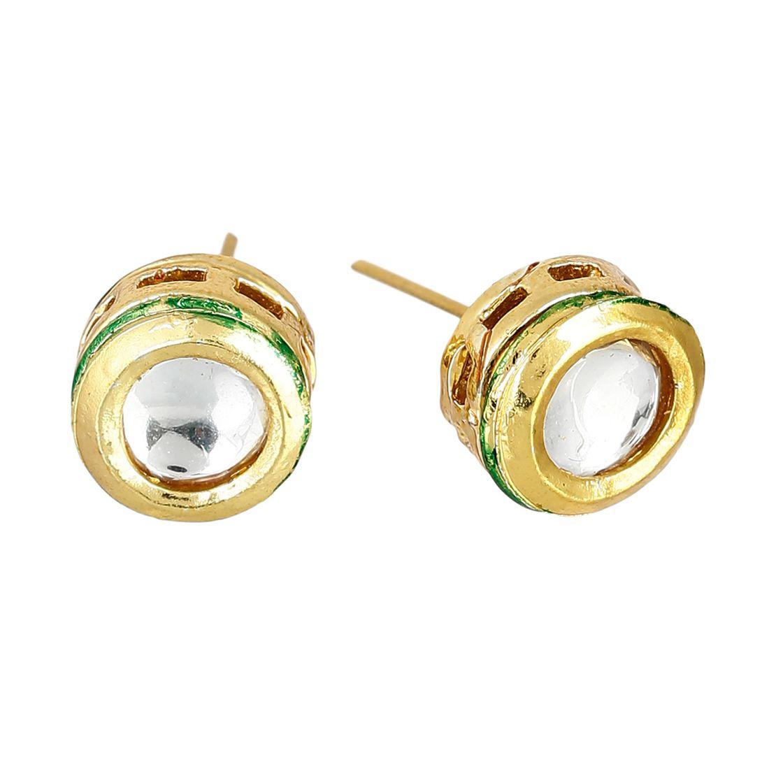Zeneme  Fashion Jewellery Kundan Earrings for Girls Fancy Party Wear Earrings for Women