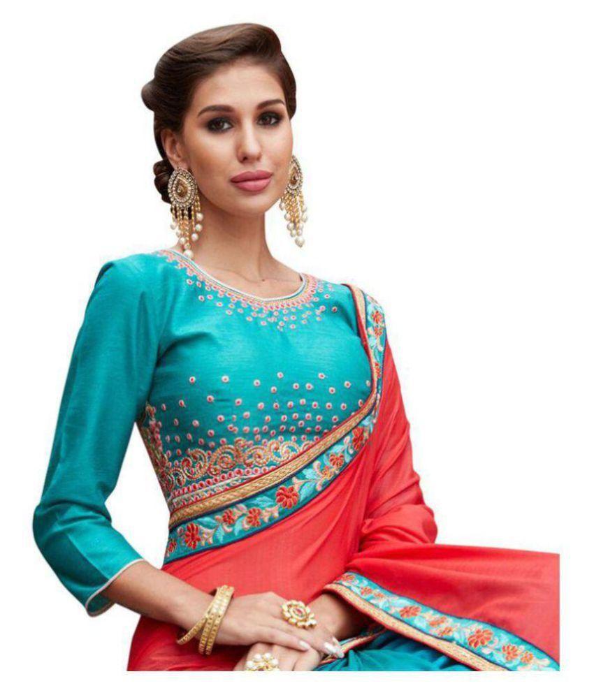 Designer Sarees ( sari ) Multicoloured Georgette Saree