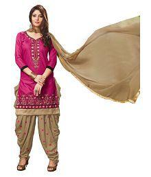 IndianEfashion Pink Cotton Dress Material