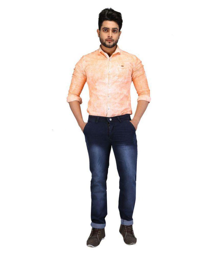 Adonis Blue Blue Regular Fit Jeans
