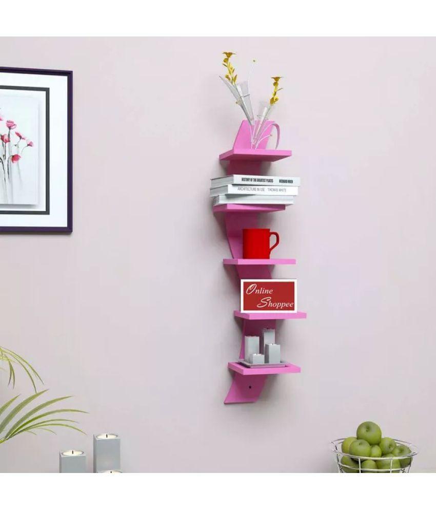 Onlineshoppee Floating Shelf/ Wall Shelf / Storage Shelf/ Decoration Shelf Pink - Pack of 1
