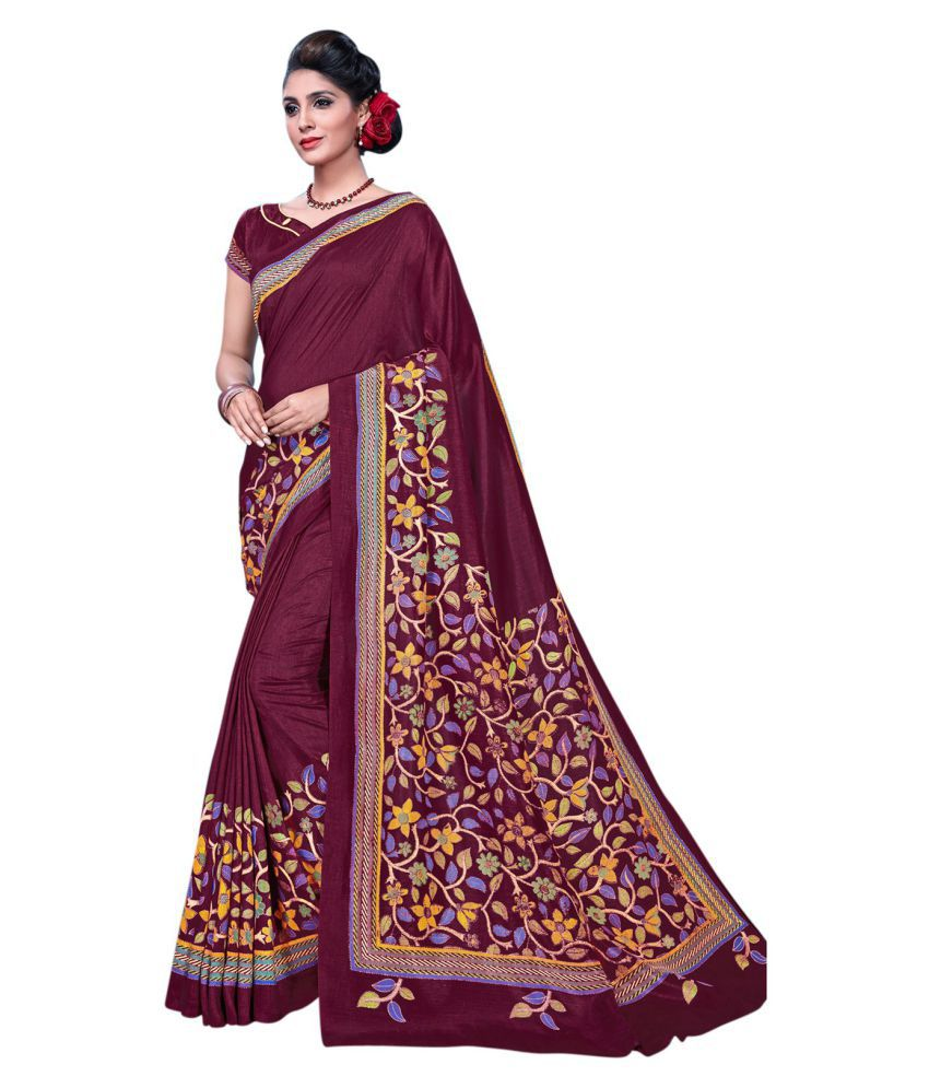 Urban India Multicoloured Tussar Silk Saree