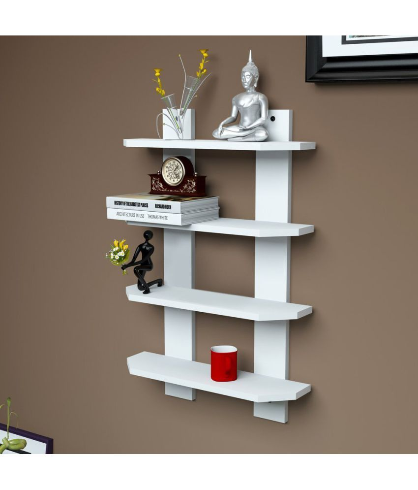 woodworld Floating Shelf/ Wall Shelf / Storage Shelf/ Decoration Shelf White - Pack of 1